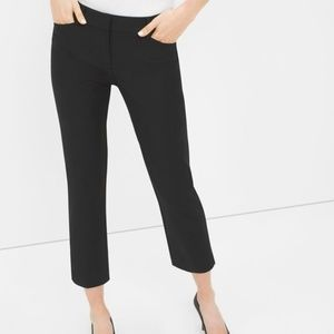 WHBM Perfect Form Straight Crop Size 8 Black